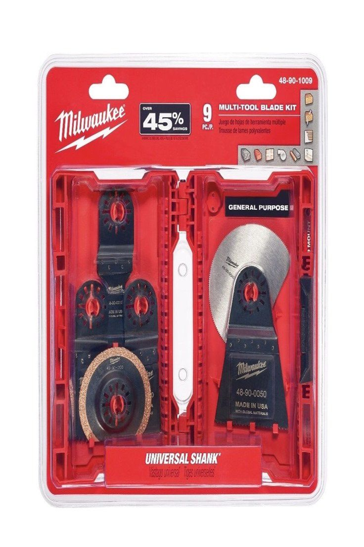 Details About Milwaukee 48 90 1009 9 Pc Multi Tool Blade Kit Tool Blade Multitool Milwaukee