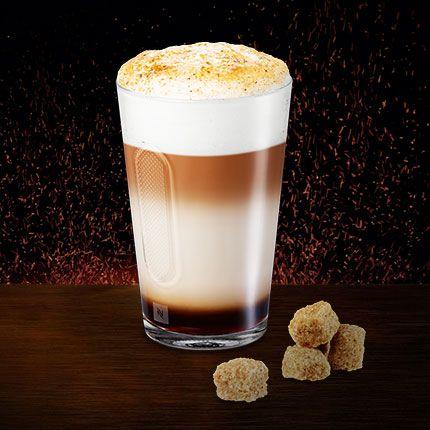 Double crème brulée latte macchiato. A Nespresso recipe