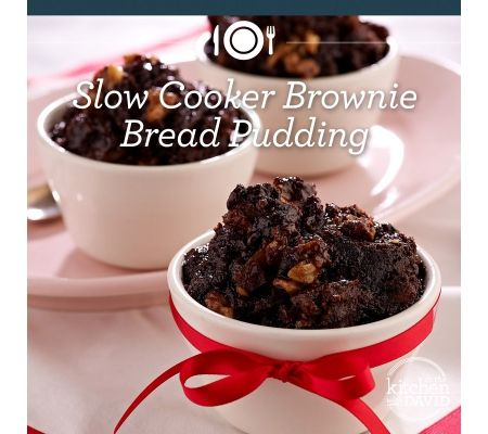 slow cooker brownie bread pudding from David Venable's cookbook 10/2014