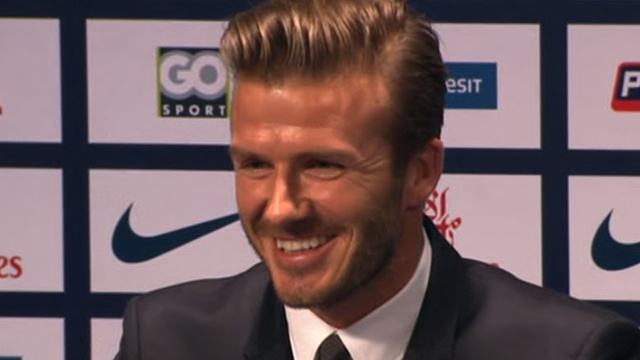 BBC Sport - David Beckham leads January deadline day transfer moves.  David Beckham's move to French Ligue 1 side Paris St-Germain was the biggest coup on January transfer deadline day.  The 37-year-old former England captain signed a five-month contract and is donating his salary to charity.
