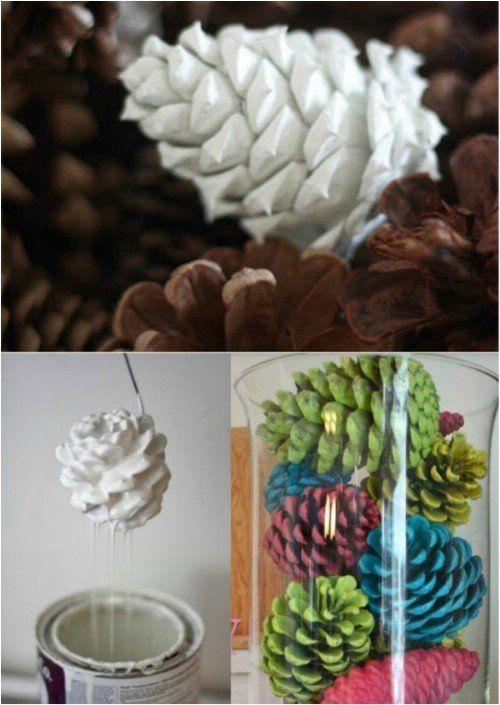 Color Pinecones…
