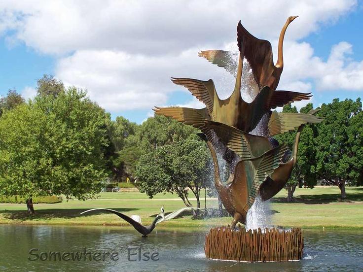 Swan Fountain in Burswood Park, Perth W Australia