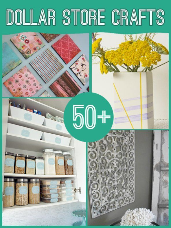 60 Projects to Make with Dollar Store Supplies - DIY & Crafts. I see this stuff and get all excited and then I actually visit my dollar store... I'm guessing dollar stores in other parts of the country must be nicer.