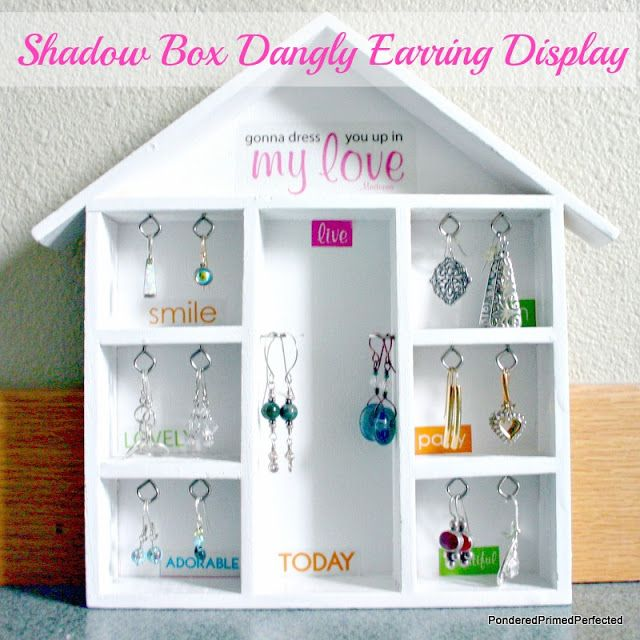 8 best Jewelry Shadow Box images on Pinterest Shadow box Earring