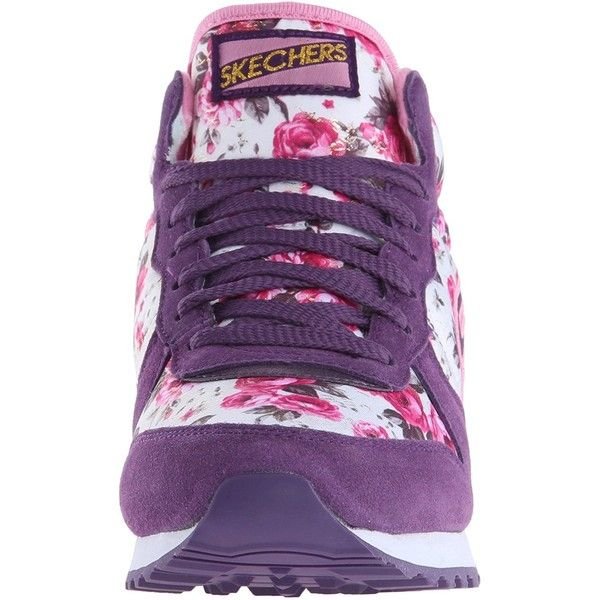 Skechers Originals Women's Retros OG 85 Fashion Sneaker ($29) ❤ liked on Polyvore featuring shoes, sneakers, wide shoes, wide width sneakers, retro sneakers, skechers footwear and retro style shoes