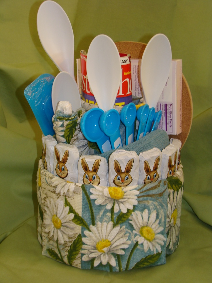 45 best towel cakes images on pinterest events favors and kitchen towel cake teal tones with easter bunny chocolates used as easter negle Gallery