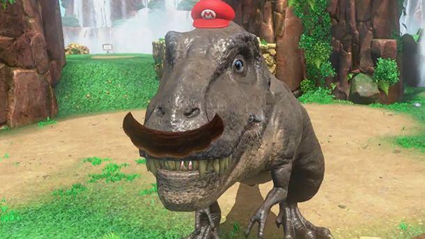 Tem até tiranossauro de bigode neste novo gameplay de Super Mario Odyssey! - EExpoNews