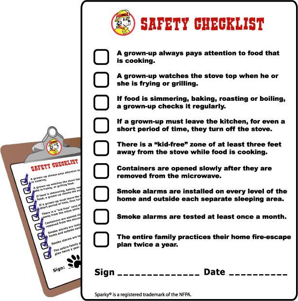 Safety checklist baby safe homes child safety safety for 6 kitchen safety basics