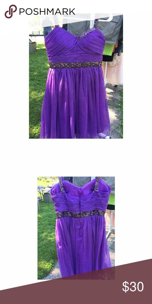 MINUET PURPLE DRESS Purple semi formal dress. Perfect for a summer wedding or a dance Minuet Petite Dresses Prom