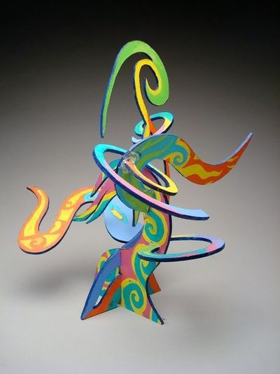 painted foam board sculpture