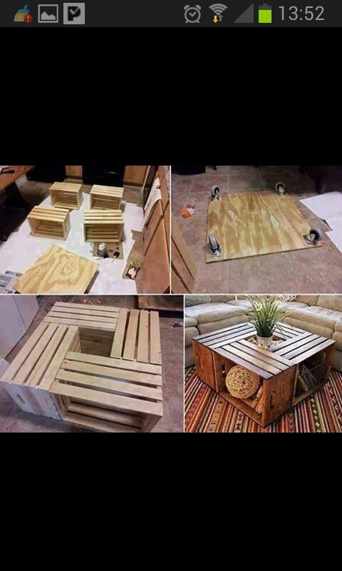 Kisten Couch Tisch
