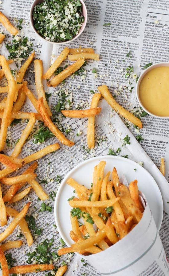 lemon and herb french fries