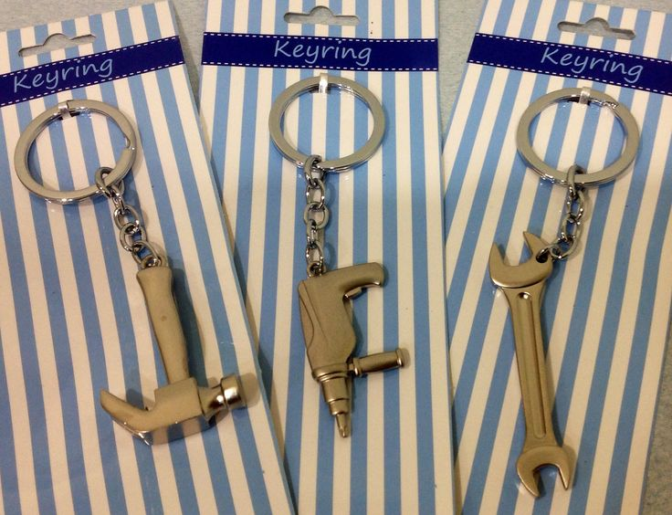 These are great Keyring's men's gifts at Elly Baba's Treasures $5 ea