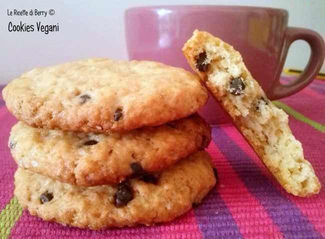 Choc chip cookies, no butter no milk...