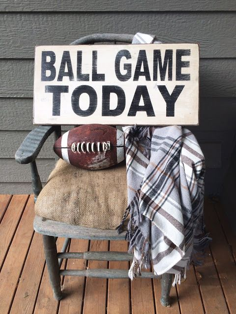 Little Farmstead: Ball Game Today Sign