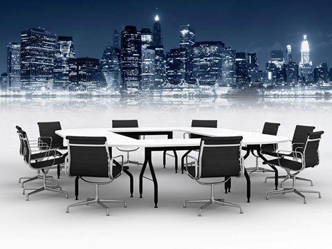 La skyline di una metropoli per la tua sala riunioni: basta pensare in grande. Personalizza i tuoi ambienti con gli adesivi removibili: li trovi su www.tipidea.com   #Tipidea #Grafica #StampaOnline #Decorazioni