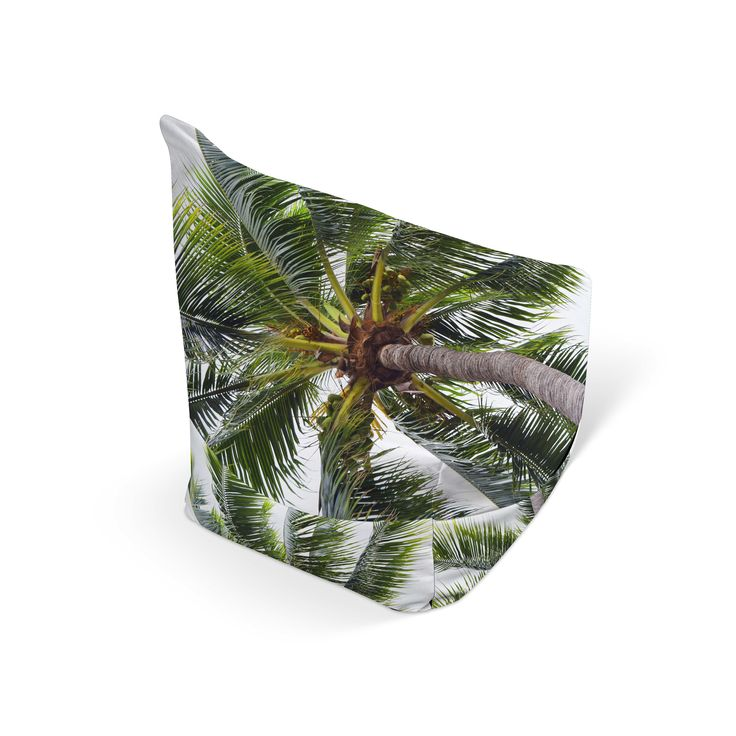 Add a touch of coconut palm to your beach style gaming and entertainment room settings with this chic Bean ...