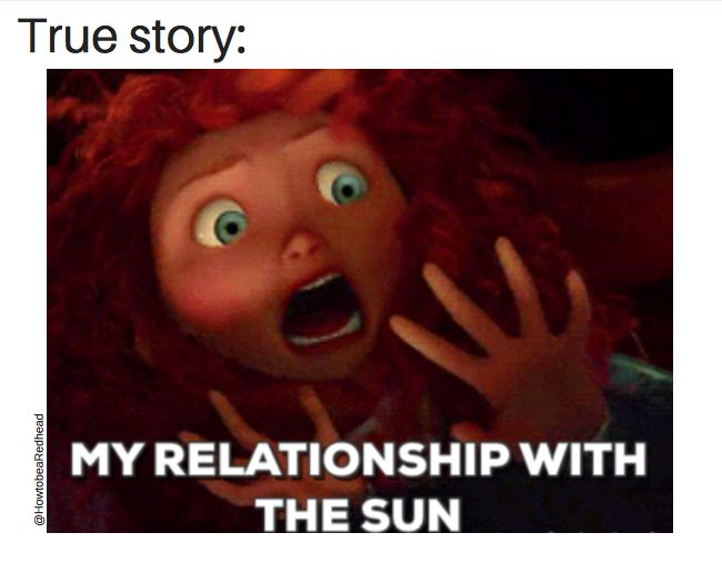 This is SO true. Redhead Life ia How to be a Redhead