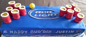 Beer pong Cake  EvieliciousCakes.blogspot.com