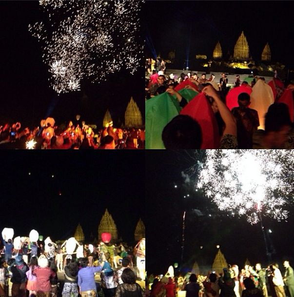 Lantern releasing and fireworks as a symbol of hope and pray. #apsda2014 #apsdaday5 #farewellparty #mysticaldesign #livefromapsda2014