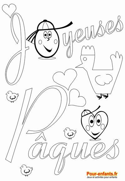 Joyeuses Pâques à imprimer coloriage de PAQUES avec poule poussins et coeurs d'amour