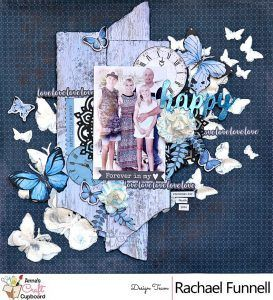 Kaisercraft -'Indigo Skies' layout including Video tutorial - Rachael Funnell