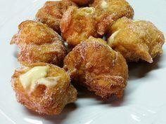 frittelle ripiene di crema #ricettedisardegna #cucinasarda #sardinia #recipe