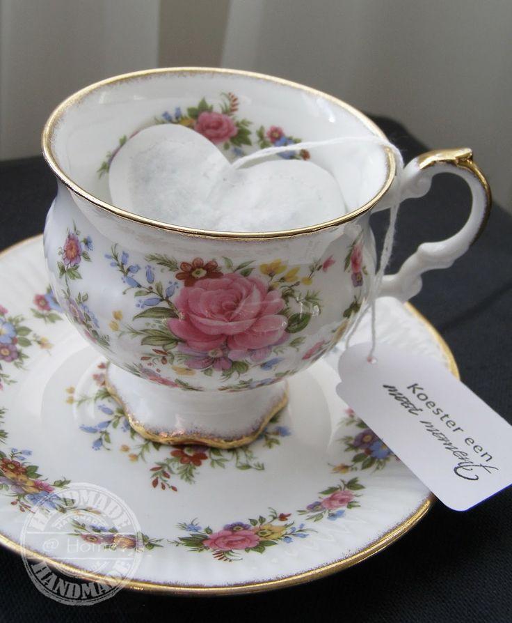 tea bag heart http://handmadeethome.blogspot.nl/
