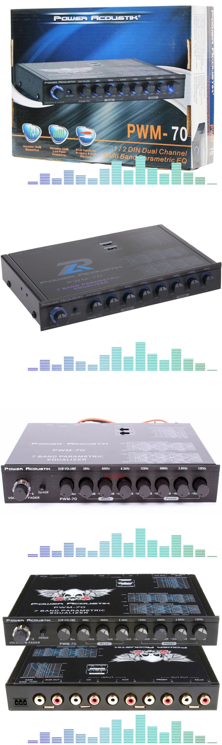1000 ideas about car audio crossover car audio signal processors pwm70 power acoustik 7 band car audio parametric equalizer sub level crossover buy