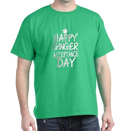 Ginger Acceptance Day T Shirt  #redhead #gingers #stpatty #stpatricksday #typography #quotes #slogans #funny #humor #shirts #green #irish #men