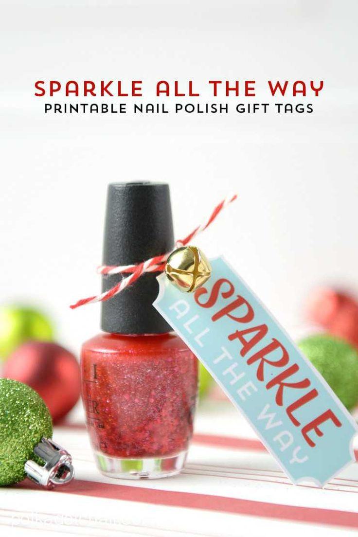 Printable Nail Polish Gift Tags by Polka Dot Chair Blog on iheartnaptime.com