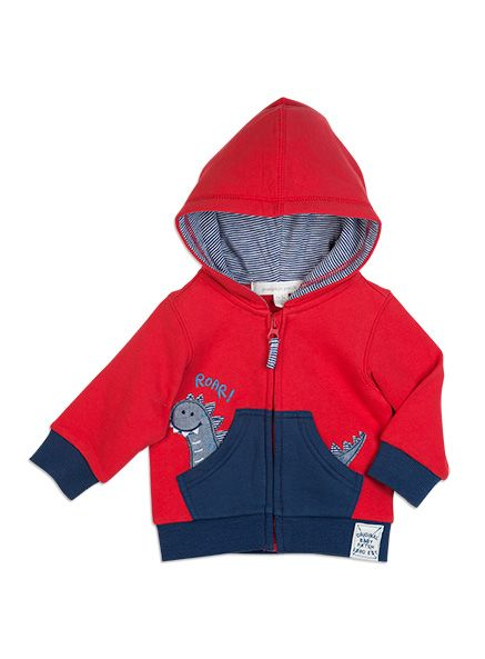 Pumpkin Patch - - dino applique jacket - S5BB40001 - ketchup - 0-3m to 18-24m
