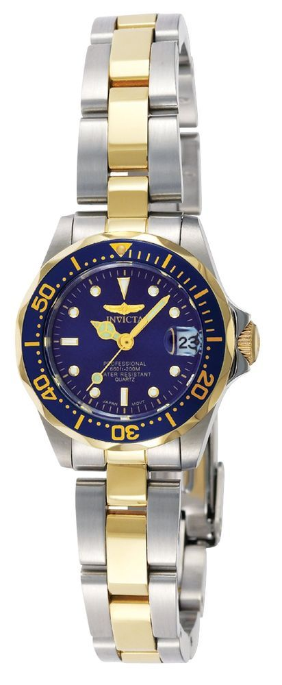 Invicta Women's Analog Watch Pro Diver Two-Tone Stainless Steel Water Resistant #Invicta #Diver