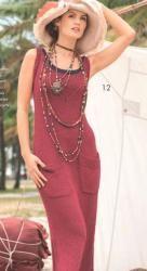 Схема вязания: Длинное платье на бретелях | Пуловеры спицами - petelka.net