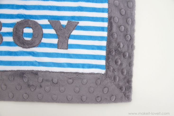 such an easy way to self bind a blanket, using the same piece of backing fabric as binding.