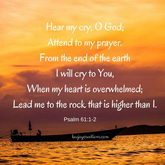 Hear my cry oh God: