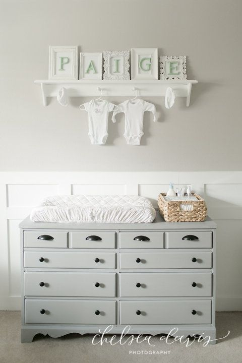 dresser as changing table- but in cream/light color
