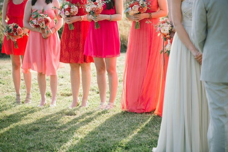 Poppy And Coral Bridesmaids Dresses