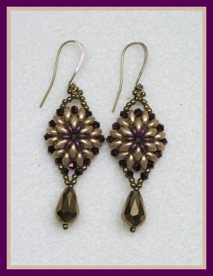 Oh Earrings FREE Tutorial in English. Uses O-beads, SuperDuos, bicones, seed beads and other beads.