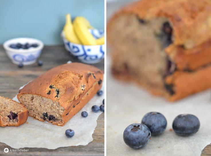 veganer kuchen banane blaubeeren