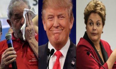 Donald Trump está atrás do dinheiro que a dupla Lula e Dilma surrupiaram dos americanos