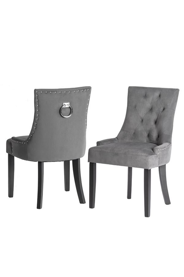 TORINO Esstischstuhl mit Rückenring Smoke | Dining chairs
