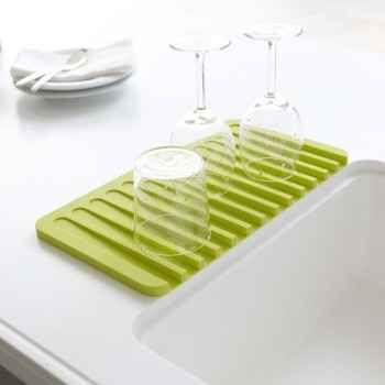 The Flow Dish Draining Tray keeps your counter clear of a sopping wet mess.