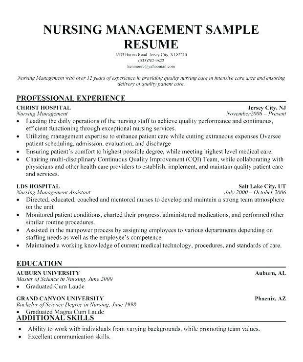 nurse manager  resume examples  manager resume  nursing