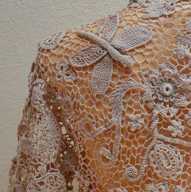 """Realizzato Ivelise mano: Il mio lavoro: """"Bolero Elizabeth"""" In Crochet Irish Lace"""