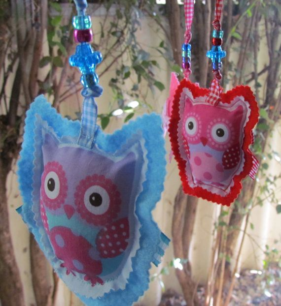 baby sensory mobile owls nursery driftwood by Lizzieslovelysewing