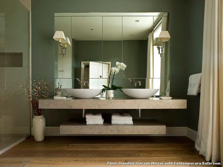 Floor Standing Storage Mirror