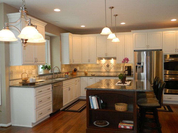 Accent color dream kitchens pinterest for Kitchen accent colors