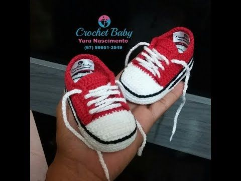 All Star de Crochê - Tamanho 09 cm - Crochet Baby Yara Nascimento PARTE 01 - YouTube