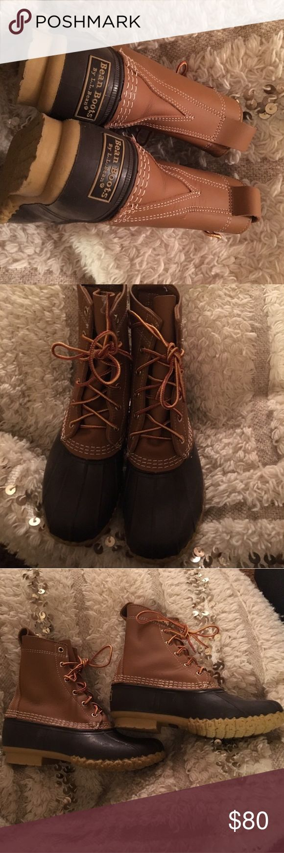 LL bean boots perfect condition worn once, runs big im usually 8 and these are a 7 L.L. Bean Shoes Winter & Rain Boots